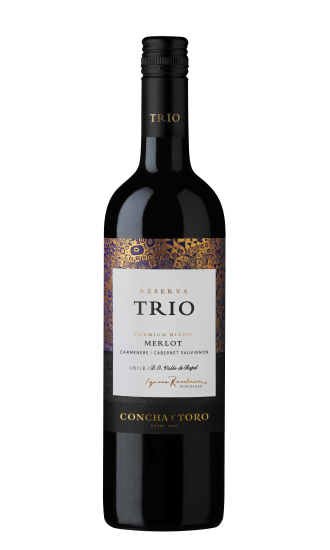 Trio - Reserva, (Premium Blend) Merlot / Carmenere / Cabernet Sauvignon, Rapel Valley